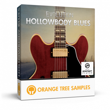 Hollowbody blues electric guitar for Kontakt
