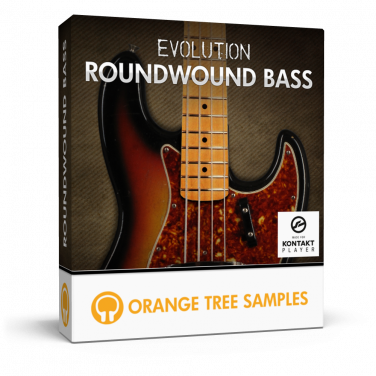 J-style electric bass with roundwound strings for Kontakt