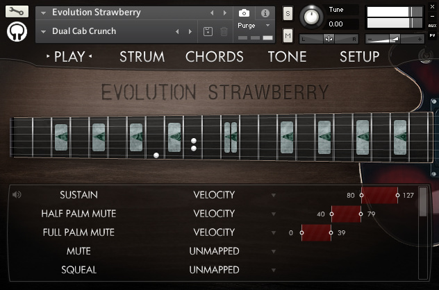 orange tree evolution electric guitar strawberry wallpaper